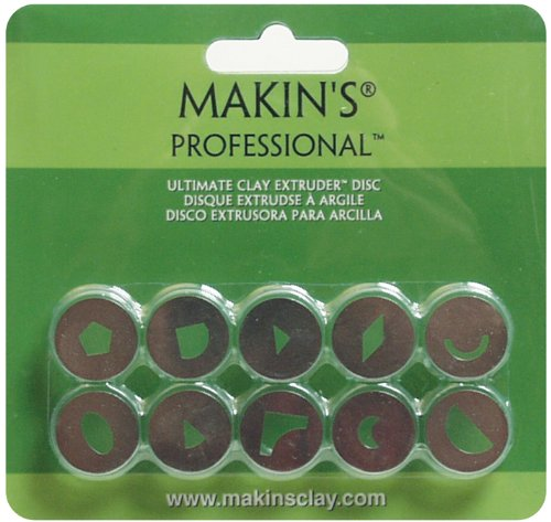 Makin's USA Professional Ultimate Clay Extruder Discs, Set B, 10 Per Package Notions - In Network 35156