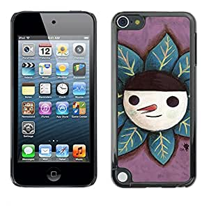 Soft Silicone Rubber Case Hard Cover Protective Accessory Compatible with Apple IPod Touch 5 - Cute Happy Snowman