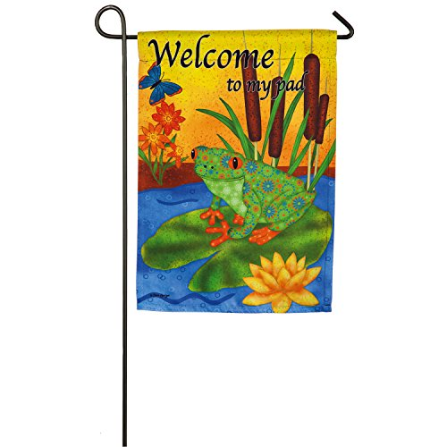 Evergreen Flag Welcome to My Pad Suede Garden Flag, 12.5 x 1