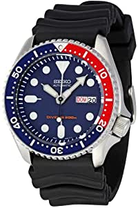 Seiko Men's Skx009K1 Blue Dial Divers Watch Blue