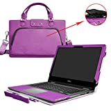Inspiron 13 2-in-1 i5378 i5368 Case,2 in 1 Accurately Designed Protective PU Leather Cover + Portable Carrying Bag For 13.3' Dell Inspiron 13 5000 series 2-in-1 5378 5368 Laptop,Purple