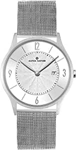 Alpha Saphir 335H - Reloj de caballero de cuarzo, correa de acero inoxidable