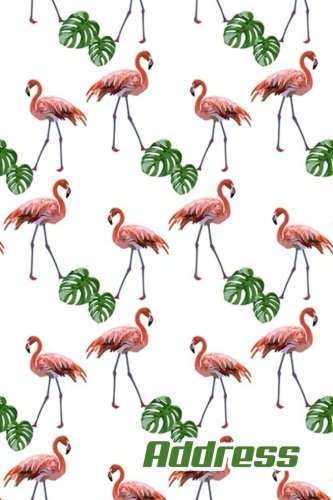 """Address.: Address Book. (Vol. C40) Flamingos Cover Design. Glossy Cover,Contract Large Print, Font, 6"""" x 9"""" For Contacts, Addresses, Phone Numbers, ... And More. (Address Book Pro Edition.)"""