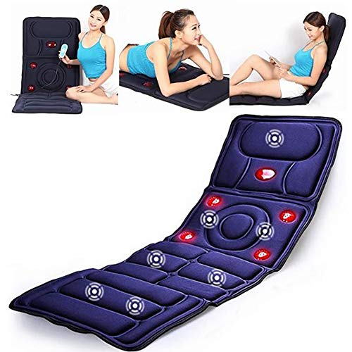 Juup Full Body Massage Mat Mattress with 9 Vibrating Motors and 5 Therapy Heating Pad Full Body Massager Cushion for Relieving Back Lumbar Leg Pain ()