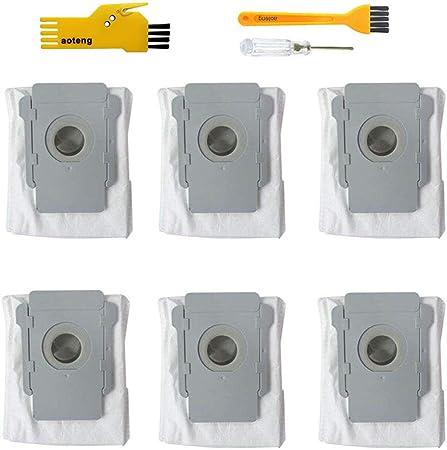 Filtro da 10 pezzi con sacchetto per la polvere per iRobot Roomba i7 i7 accessori di ricambio per iRobot Roomba i7 // i7 plus E5 E6 E7 aspirapolvere