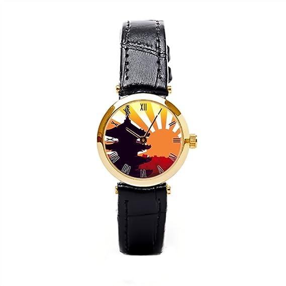dodoband correa de piel relojes Skyline Vintage muñeca relojes: Amazon.es: Relojes