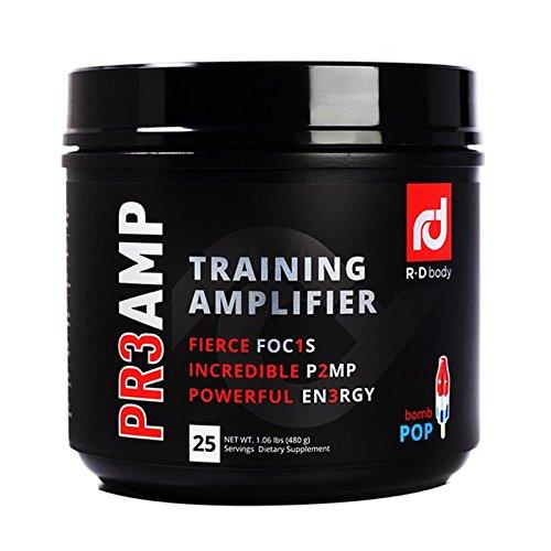PR3AMP Pre Workout - The Best Pre Workout Supplement - Preworkout Training Amplifier - R+D Body Pre Workout (25 Servings) - Bomb Pop