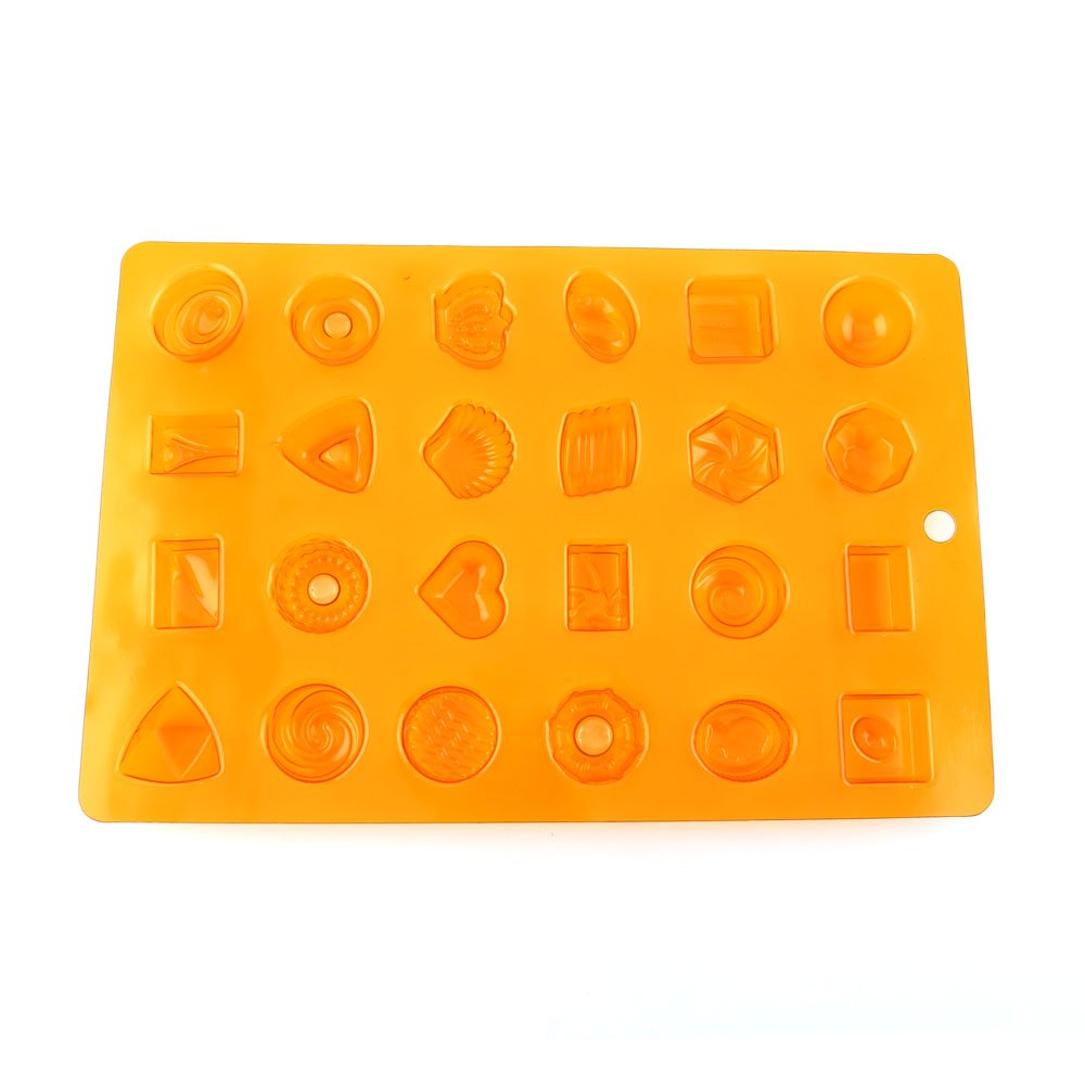 100 PCS Chocolate Molds Baby Shower Candy Making Supplies Jelly Maker Wholesale FC059 Crown Round Square