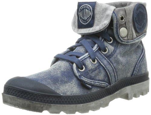 Palladium 71874, Botas del Desierto Mujer Azul (Navy/Metal)