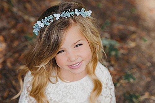 Child Flower Crown - Flower Crown Wreath - Flower Girl - Babies Breath