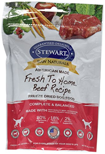 Stewart 402761 Beef Raw Naturals Freeze Dried Dog Food, 4 oz by Stewart