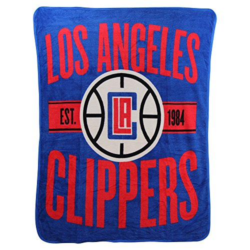The Northwest Company Officially Licensed NBA Los Angeles Clippers Clear Out Micro Raschel Throw Blanket, 46