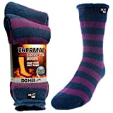 2 Pairs of Mens Thick Heat Trapping Insulated Boot Thermal Socks Pack Warm Winter Crew For Cold Weather