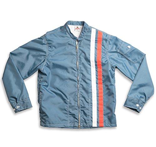 Birdwell Men's Lightweight Band Collar Nylon Jacket (Federal Blue, Large) by Birdwell Beach Britches