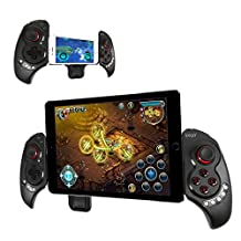 "iPega Newest Extendable gamepad Game Controller Portable Bluetooth Wireless Gamepad Joystick Control for Android Samsung Galaxy Note 3 S5 HTC Sony Xperia LG and iOS iPhone 6 5S 5C 5 iPad 5 4 iPod, Supports Up to 10"" Smartphone or Tablet PC"