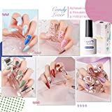 Candy Lover Gel Polish Starter Kit 15 Bottles, 10ml Nail Colors with Base Top Coat Matte Top Coat 24W UV/LED Lamp Gel Nail Polish Set - Nail Art Accessories Home Manicure Tools
