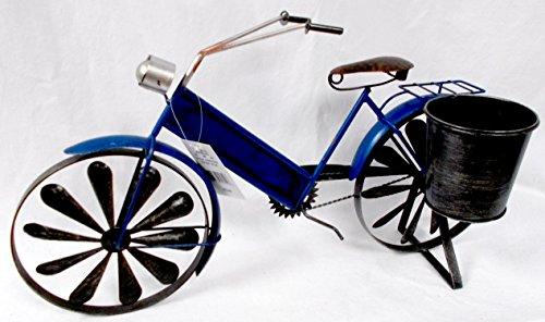 Metal Rustic Blue Bicycle Bike Planter Wind Spinner Wheel Decor Indoor/Outdoor 22x12' (12' Wind Spinner Spinners)