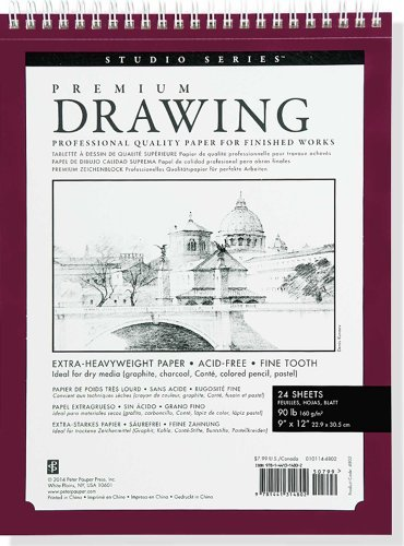 "Read Online By Peter Pauper Press Large Premium Drawing Pad 9"" X 12"" (Sketchbook, Sketch book) (Studio) (Spi) [Hardcover] PDF"