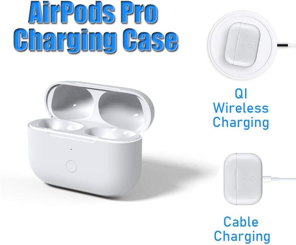 Remplacement Bo/îtier de Charge sans fil pour AirPods Pro avec Bouton de Synchronisation Bluetooth /Étui de Charge Compatible avec Airpod Pro Substitut du Bo/îtier de Chargeur Air Pod Pro Ecouteurs