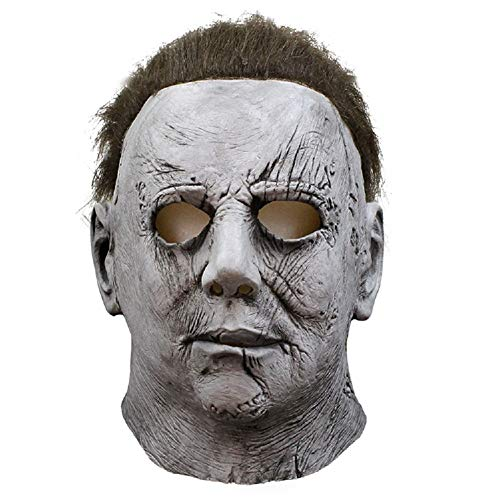NECHARI Cosplay Halloween Mask Melting Face Overhead Latex Costume Halloween Scary Mask Spoof Mask Tricky Game Toy for $<!--$16.39-->