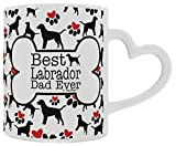 Labrador Retriever Gift Best Labrador Dad Ever Dog Owner Gifts Lab Dog Lover Heart Handle Gift Coffee Mug Tea Cup Heart Handle