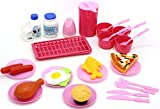 play go gourmet kitchen - Little Treasures Cooking Play Set, Includes Teacups, Plates, Utensils, Grill, and Food Items