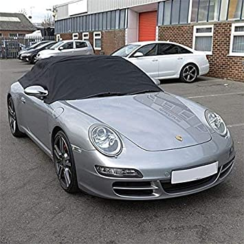 UK Custom Covers RP288 Tailored Soft Top Roof Half Cover Black