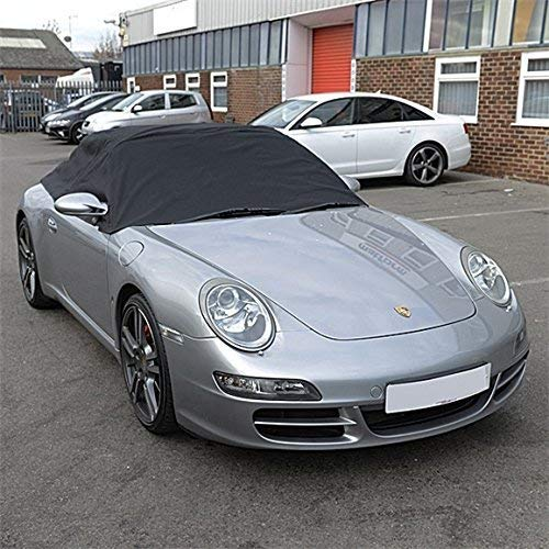 Black UK Custom Covers RP232 Tailored Soft Top Roof Half Cover