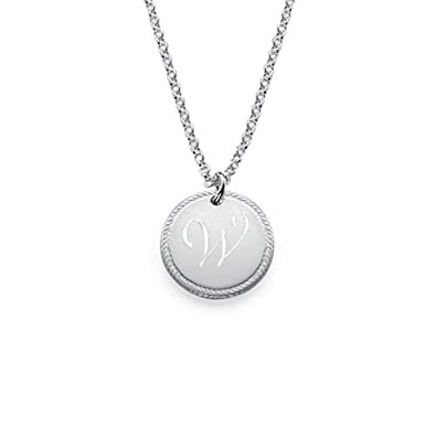 80b6f55e9f3ac Amazon.com: Circle Initial Necklace Personalized Name Necklace in ...