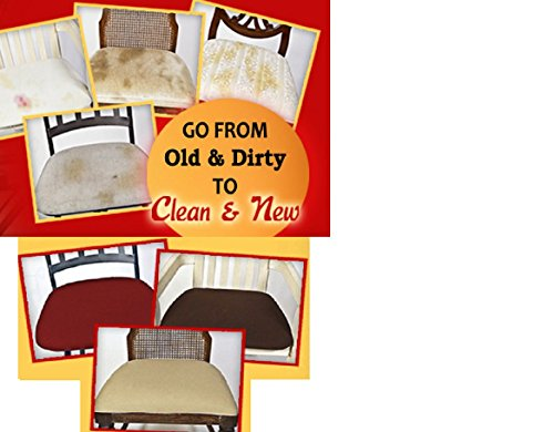 6 COVERS!! Dining Room Chair Covers, Ez Chair Covers Pk of 6 Brown MAX SIZE (Upholstering Dining Room Chairs)
