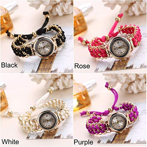 (Fashion Leisure Woman Watch Women Knitting Rope Chain Winding Analog Quartz Movement Wrist Watch)