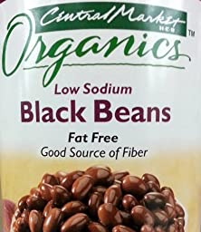 Central Market Organics Black Beans 15oz Can (Pack of 6)