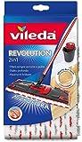 Vileda Revolution 2 in 1 Panno Ricambio in Microfibra, Bianco