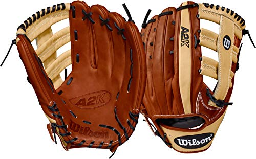 Wilson 2018 A2K 1775 Outfield Left Hand Gloves, Copper/Blonde, 12.75