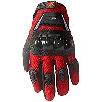 Street Bike Full Finger Motorcycle Gloves 09 (Youth_S, Red)