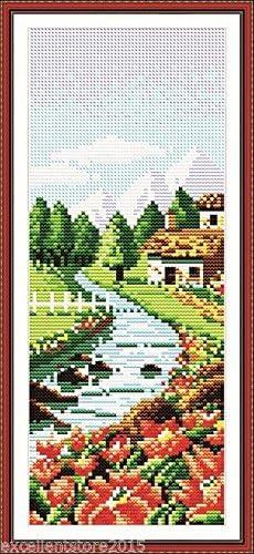 Cross Stitch DIY Handmade Needlework Set Embroidery Kit Precise Printed Gra B2S8