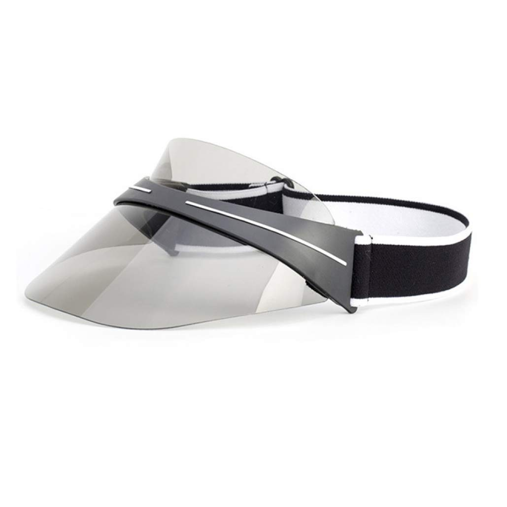 Black Lujeck Fashion Summer Unisex Ultrapurple Light Resistant Transparent Top PVC Sunshade Hat Visor Caps Bicycle Sunhat