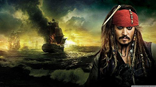 Pirates of Caribbean Jack Sparrow Edible Cake Topper Frosting 1/4 Sheet Birthday Party