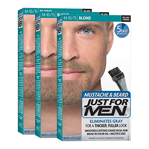 Just For Men Mustache & Beard, Blond (Pack of 3, Packaging May...