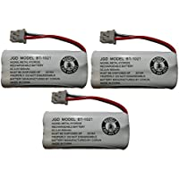 JustGreatDealz HIGH CAPACITY Rechargeable Replacement Battery BT-1021 BBTG0798001 for Uniden Cordless Handsets (3-Pack)