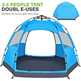 Victostar Instant Pop Up Family Camping Tent,Double Layer Waterproof 4 Season for Picnic Fishing Hiking Traveling