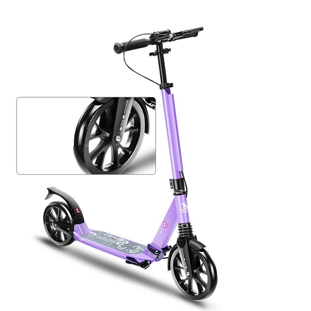 Kickscooter Erwachsener Tretroller mit Handbremse Und Fußbremse, Pendler-Roller für Erwachsene Teens Kids, Große Räder, Kapazität 100kg, Nicht Elektrisch