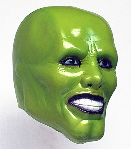 The Mask Costume (Gmasking Creepy Jim Carrey Latex Mask for Costume Party)