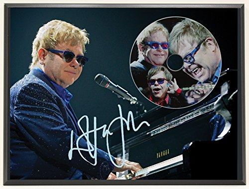 Elton John Limited Edition Signature Series Picture Disc CD Collectible Music Display (Elton John Memorabilia)