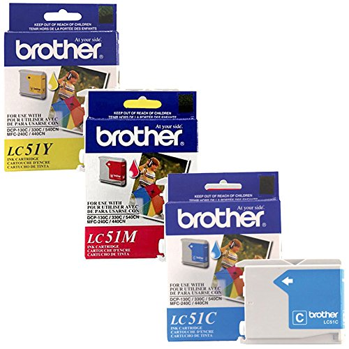 Brother LC-51 Standard Yield Ink Cartridge Set Colors Only (CMY)