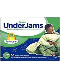 UnderJams Disposable Bedtime Underwear for Boys Size S/M,...