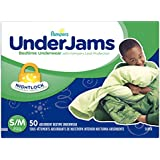 UnderJams Disposable Bedtime Underwear for Boys Size S/M, 50 Count, SUPER