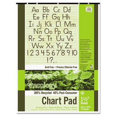 PAC945710 - Pacon S.A.V.E Recycled Chart Pads
