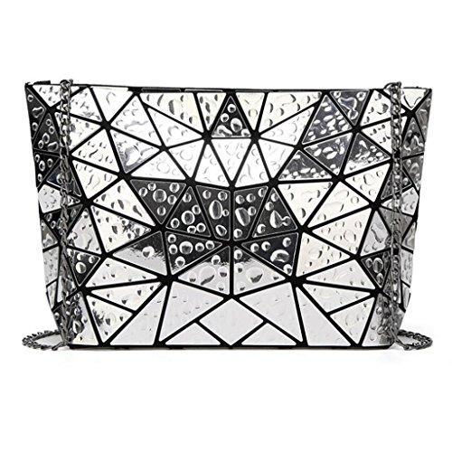 PPGE À Rhombique Silver1 Bandoulière Sacs Femmes Bag Sacs Messenger À Droplets Main Géométrie ppqrFx