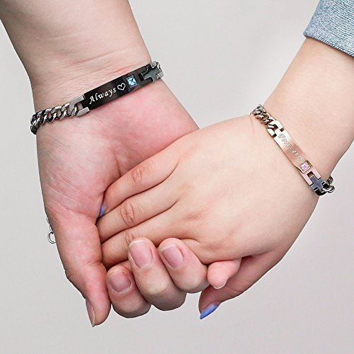 Gagafeel His Only Her One Stainless Steel Chain Couple